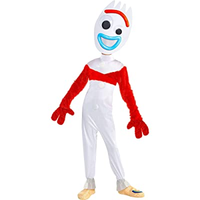 Party City Toy Story 4 Forky Costume for Children, Includes a Jumpsuit, a Mask, Gloves, a Wrap, and More: Clothing