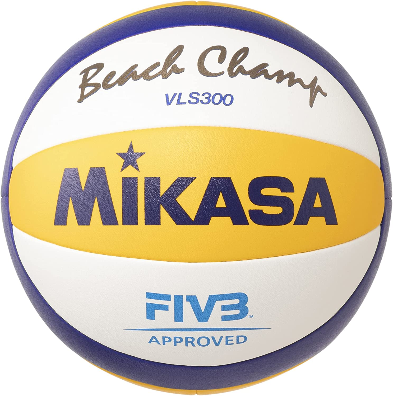 Mikasa Vls300 Balón Cosido, Beach-Volleyball MIKASABeach Champ VLS 300, Grã¶Ãÿe 5, Amarillo/Azul