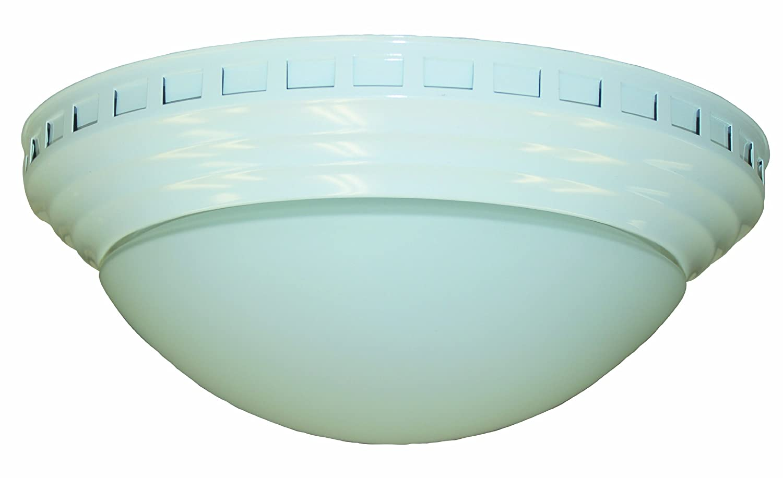 nuvent nxmd901wh 90cfm decorator fanlight white close to ceiling light fixtures amazoncom
