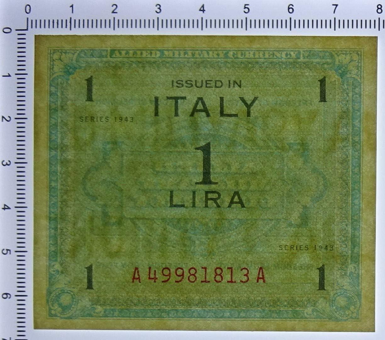 Cartamoneta.com 1 Lira Occupazione Americana in Italia MONOLINGUA FLC 1943 FDS