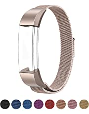 SWEES Metal Bands Compatible Fitbit Alta & Fitbit Alta HR, 2 Pack Milanese Stainless Steel Metal Replacement Small Large Women Men, Silver, Black, Rose Gold, Colorful, Space Grey, Champagne