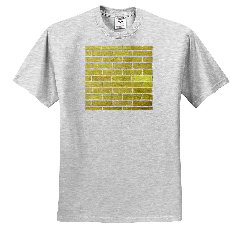 Image of Beautiful Gold Brick Wall in Closeup 3dRose Lens Art by Florene Color Brick Walls ts/_320785 Adult T-Shirt XL