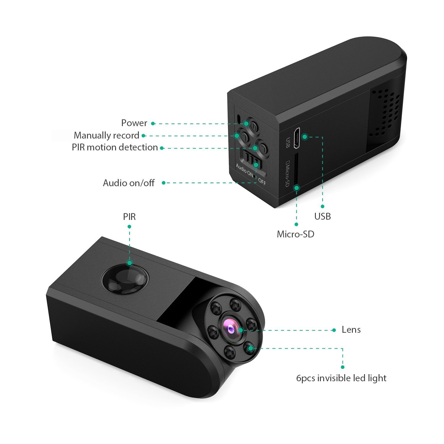 Mini Spy Hidden Camera Conbrov 720p Night Vision Motion Power Bank Newtech 12000mah Original Jabodetabek Only Activated Detection Portable Covert Nanny Cam Video Recorder Camcorder With Built In