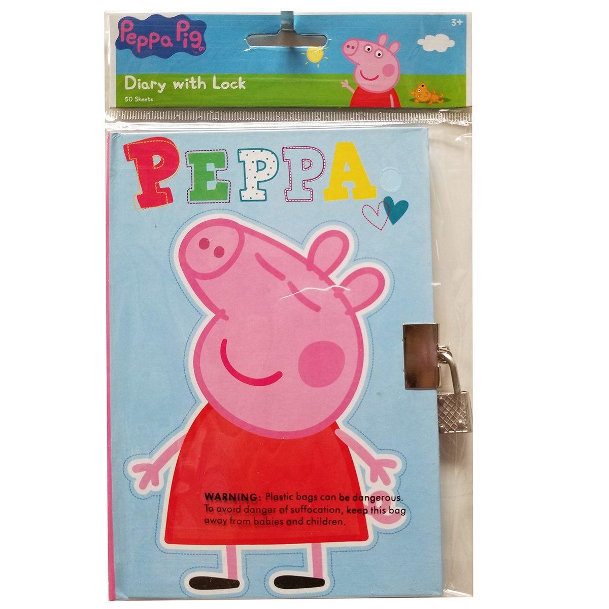 UPD Peppa Pig Diary w//Lock 1