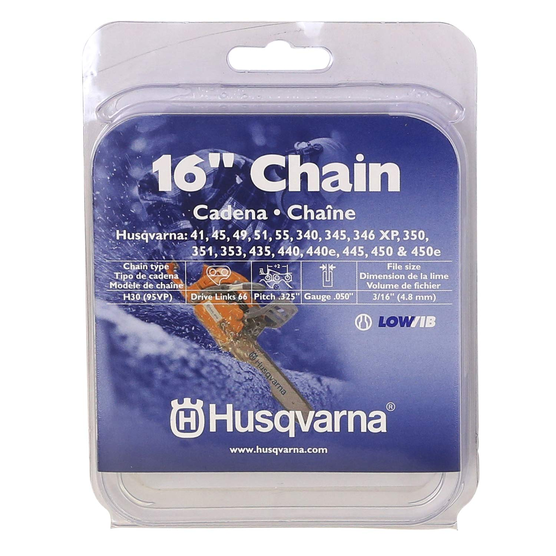 Husqvarna 531300437 16-Inch H30-66 (95VP) Pixel Saw Chain, .325-Inch by .050-Inch by Husqvarna
