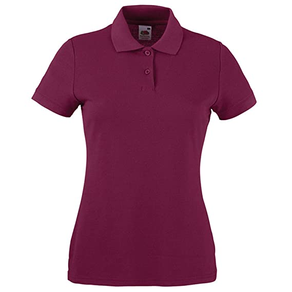 Fruit of the Loom - Polo - para Mujer Rojo Granate X-Small: Amazon ...