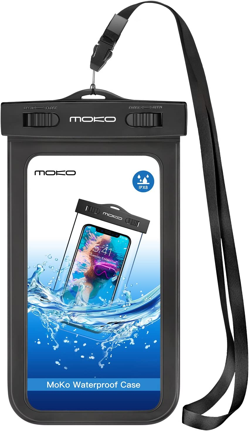 MoKo Funda Impermeable, Waterproof Brazo y Cuello Compatible para ...