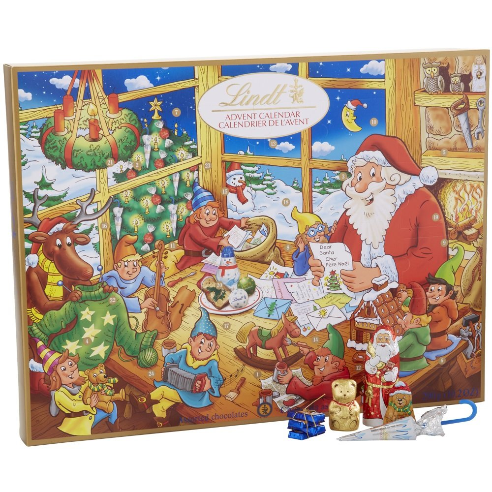 Lindt Holiday Assorted Chocolate Advent Calendar, Great for Holiday Gifting, 10.2 Ounce by Lindt