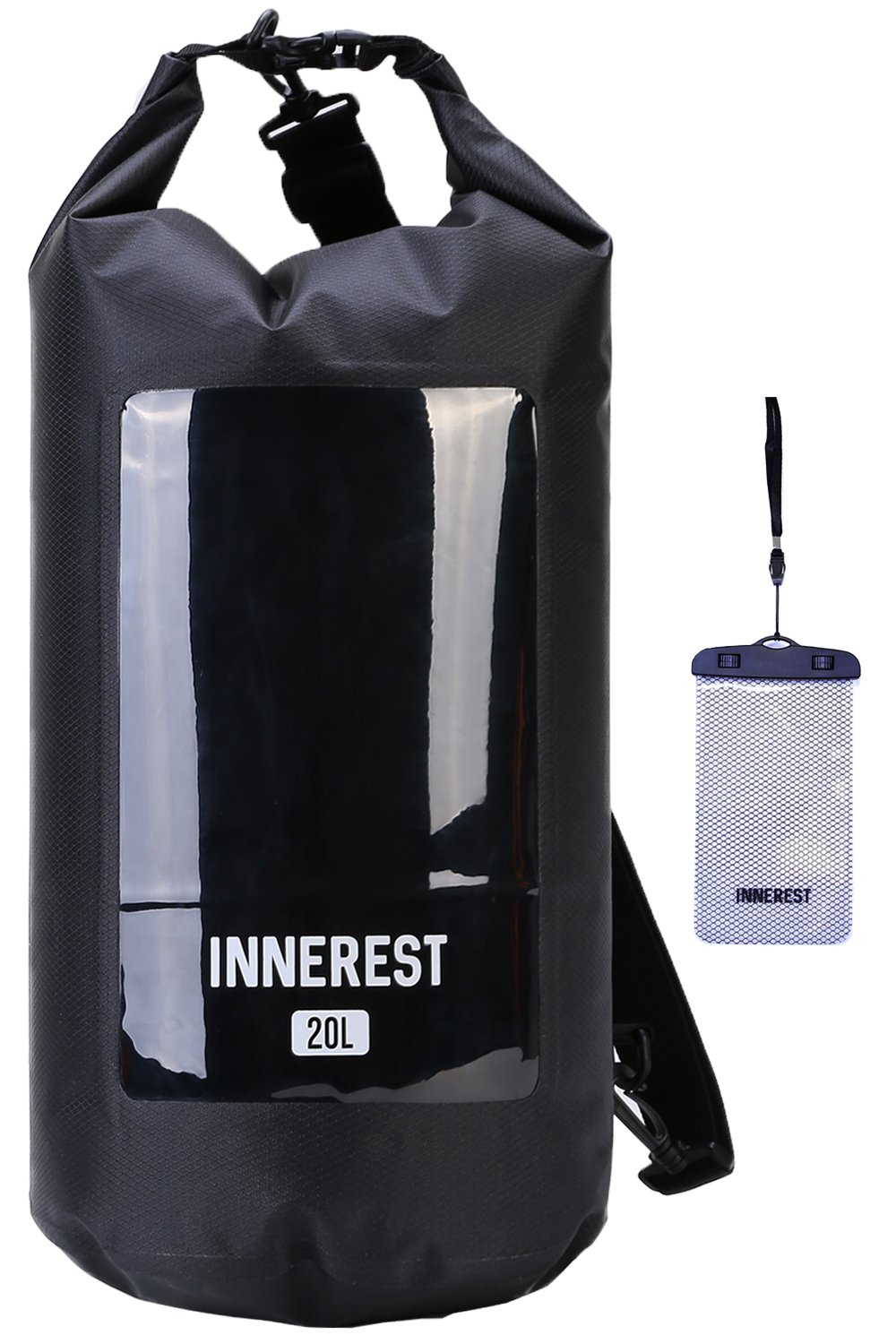 Innerest Waterproof Dry Bag Lightweight Sack for Outdoor Water Recreation Beach Boating Camping Fishing Kayaking with a