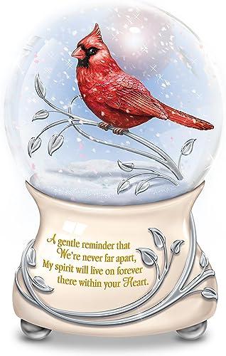 The Bradford Exchange Messenger from Heaven Memorial Cardinal Glitter Globe