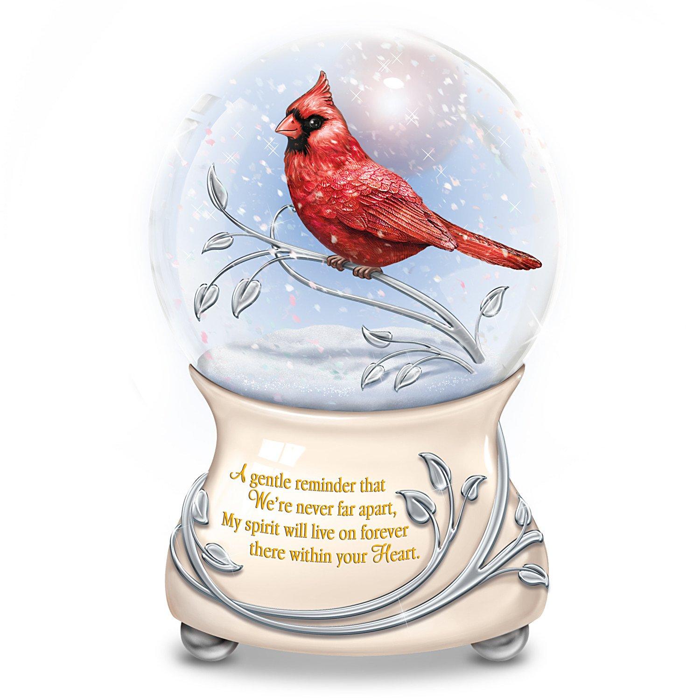 Messenger From Heaven Memorial Cardinal Glitter Globe by The Bradford Exchange