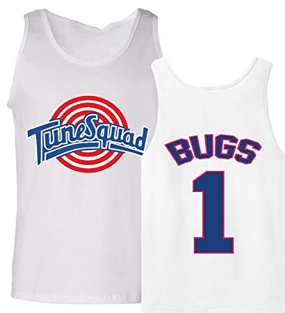 5cfe1d27b9acc1 Space Jam Tune Squad White  quot Bugs Bunny quot  jersey TANK TOP ADULT  SMALL