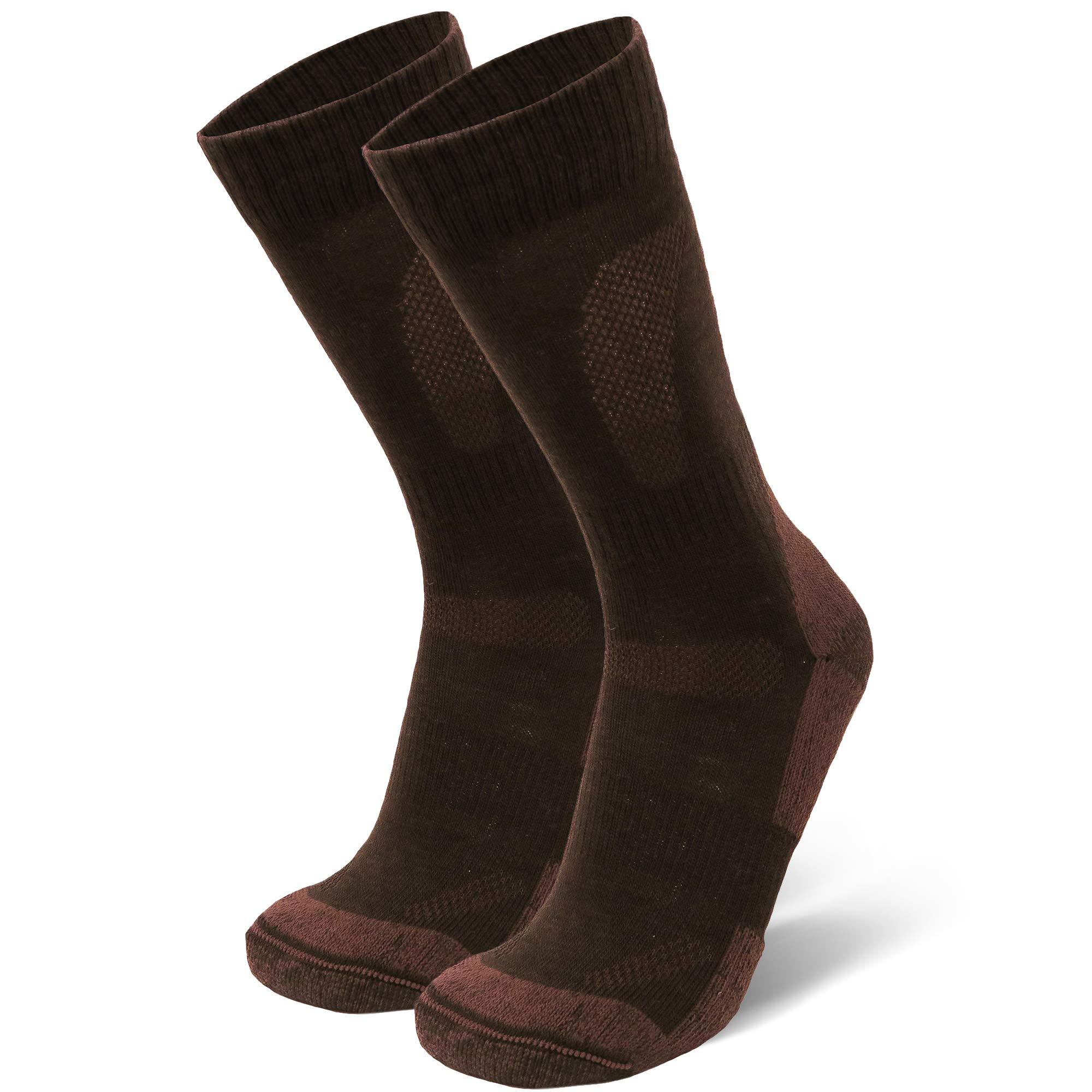 DANISH ENDURANCE Merino Wool Hiking & Trekking Socks (Oak Brown 1 Pair, US Women 8-10 // US Men 6.5-8.5) by DANISH ENDURANCE