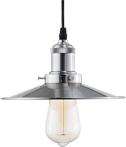Light Society Avenue Mini Pendant Light, Brushed Nickel, Vintage Modern Industrial Lighting Fixture LS-C173