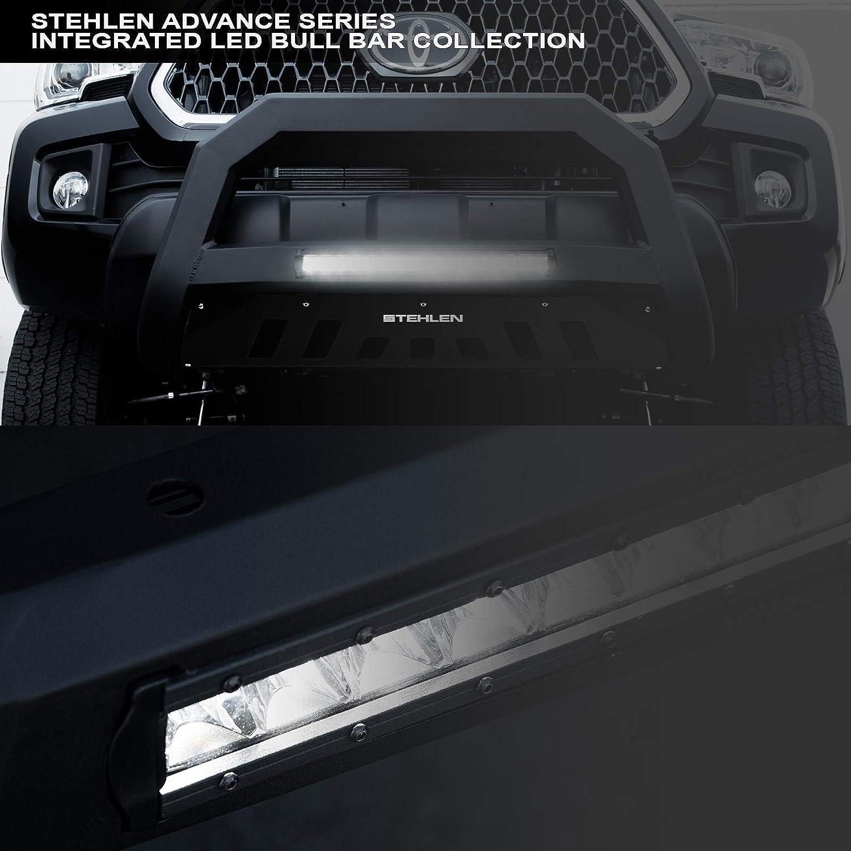 Matte Black For 07-18 Chevy Silverado//Tahoe//Suburban//GMC Sierra//Yukon//XL 1500 Stehlen 733469493099 Advance Series Aluminum LED Bull Bar