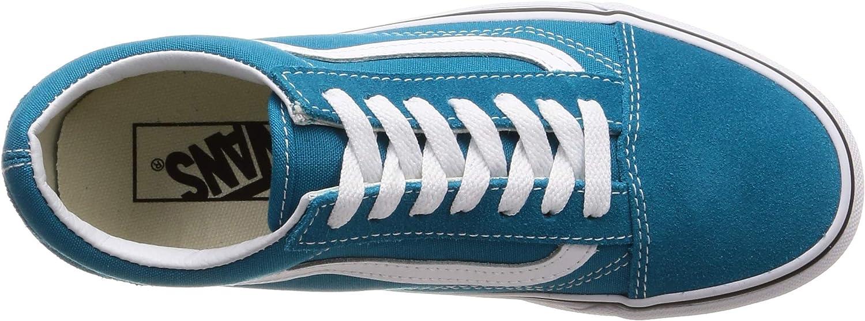 Vans Sk8-Hi Suede vd5i6bt, Baskets Mode Homme Émail Bleu Véritable Blanc