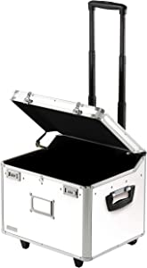Vaultz VZ00168 Locking Mobile Rolling File Storage Chest, Letter/Legal Wheelie Case, White
