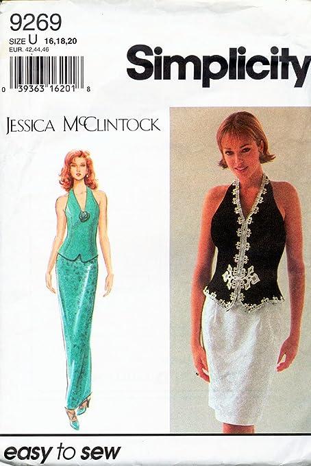 Simplicity 9269 - Patrones de costura para vestido y chaleco de ...