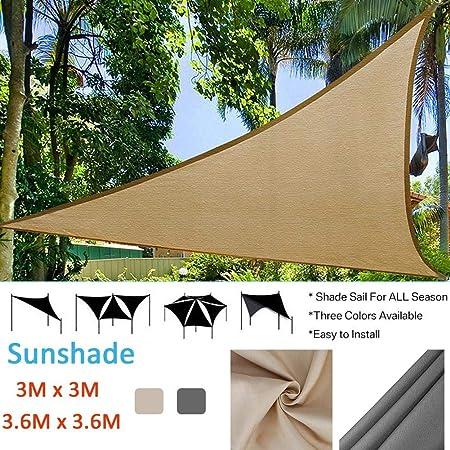 Dedeka - Toldo de protección Solar Triangular para jardín, Patio, Piscina, toldo para Acampada al Aire Libre, Amarillo, 3 * 3m: Amazon.es: Hogar