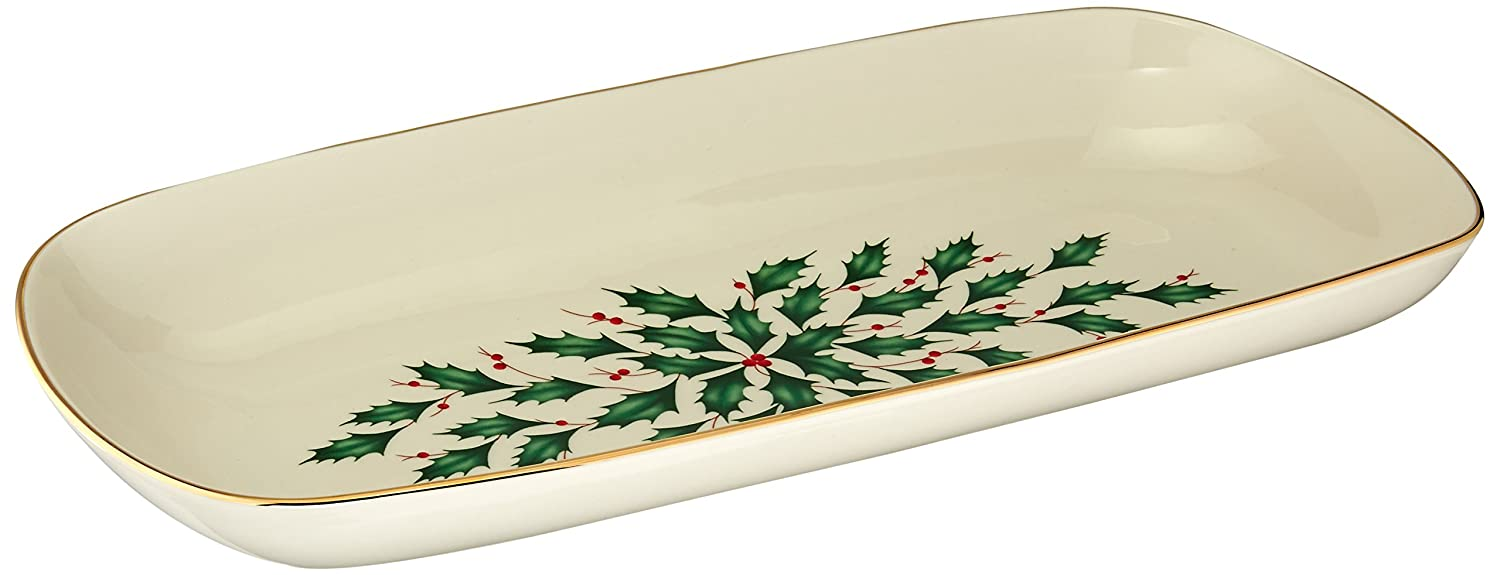 Christmas Holly Bread Trays