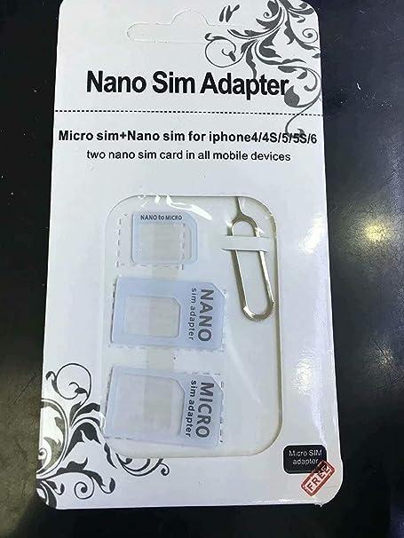 LINSUNG - 4 en 1 para Adaptador de Tarjeta SIM Micro/Normal ...
