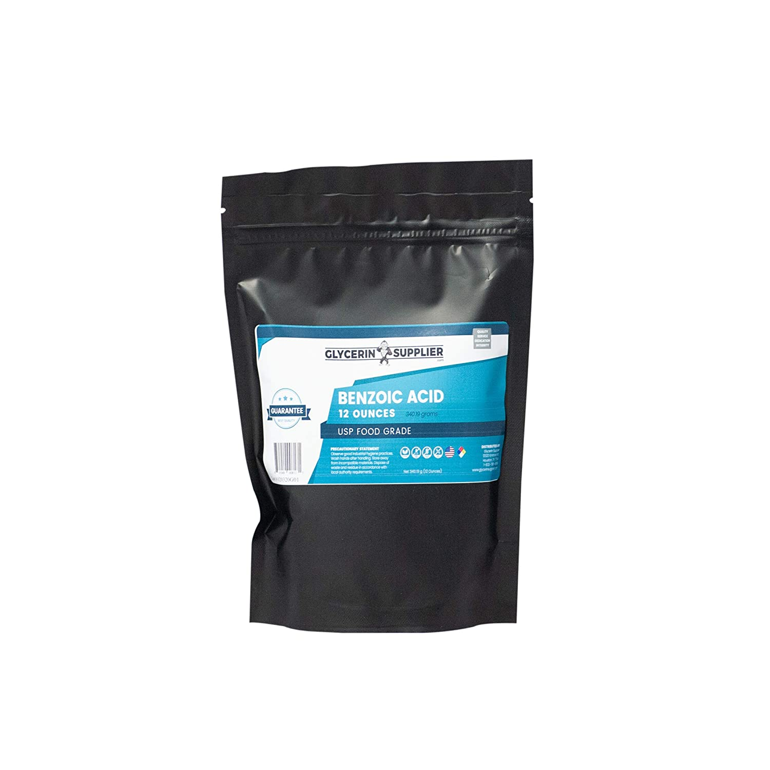 Benzoic Acid, 12 Oz. - USP Food and Pharmaceutical Grade - Highest Purity