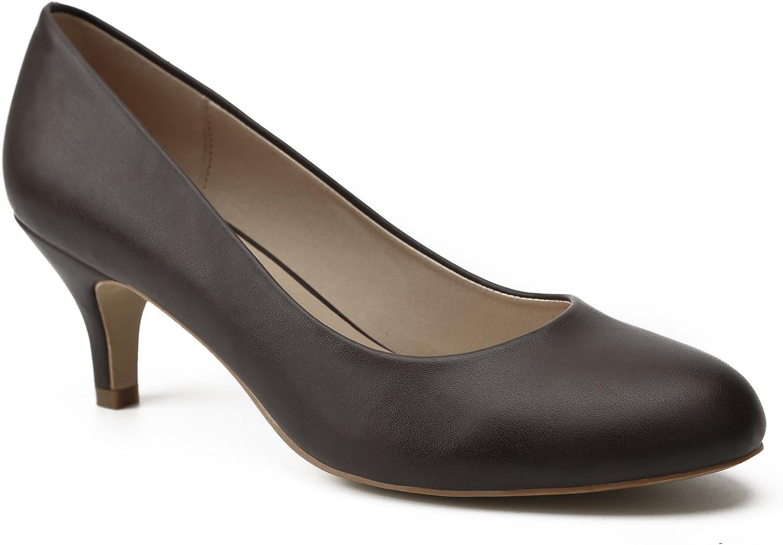 MaxMuxun Zapatos de Tacón Kitten Mujer