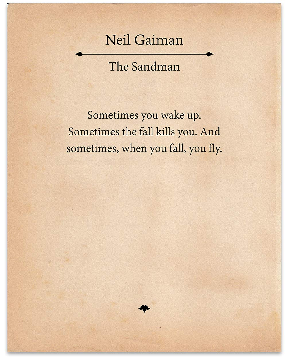 The Sandman - Neil Gaiman - 11x14 Unframed Typography Book Page Print - Great Gift for Book Lovers and Bookworms