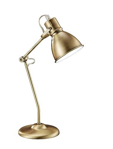 Trio Jasper - Lámpara de mesa, 18W, IP20, 204 lumens, E14, color bronce antiguo