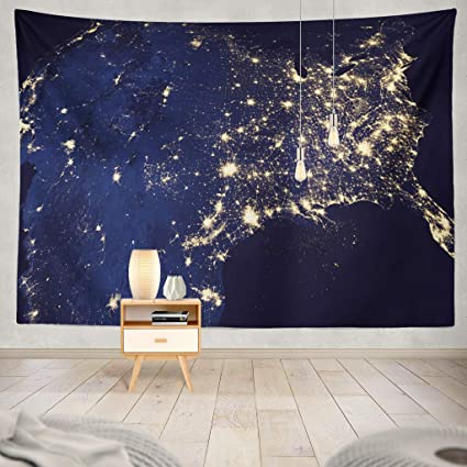 Amazon.com: KJONG USA Night NASA State United Earth Data Map ...