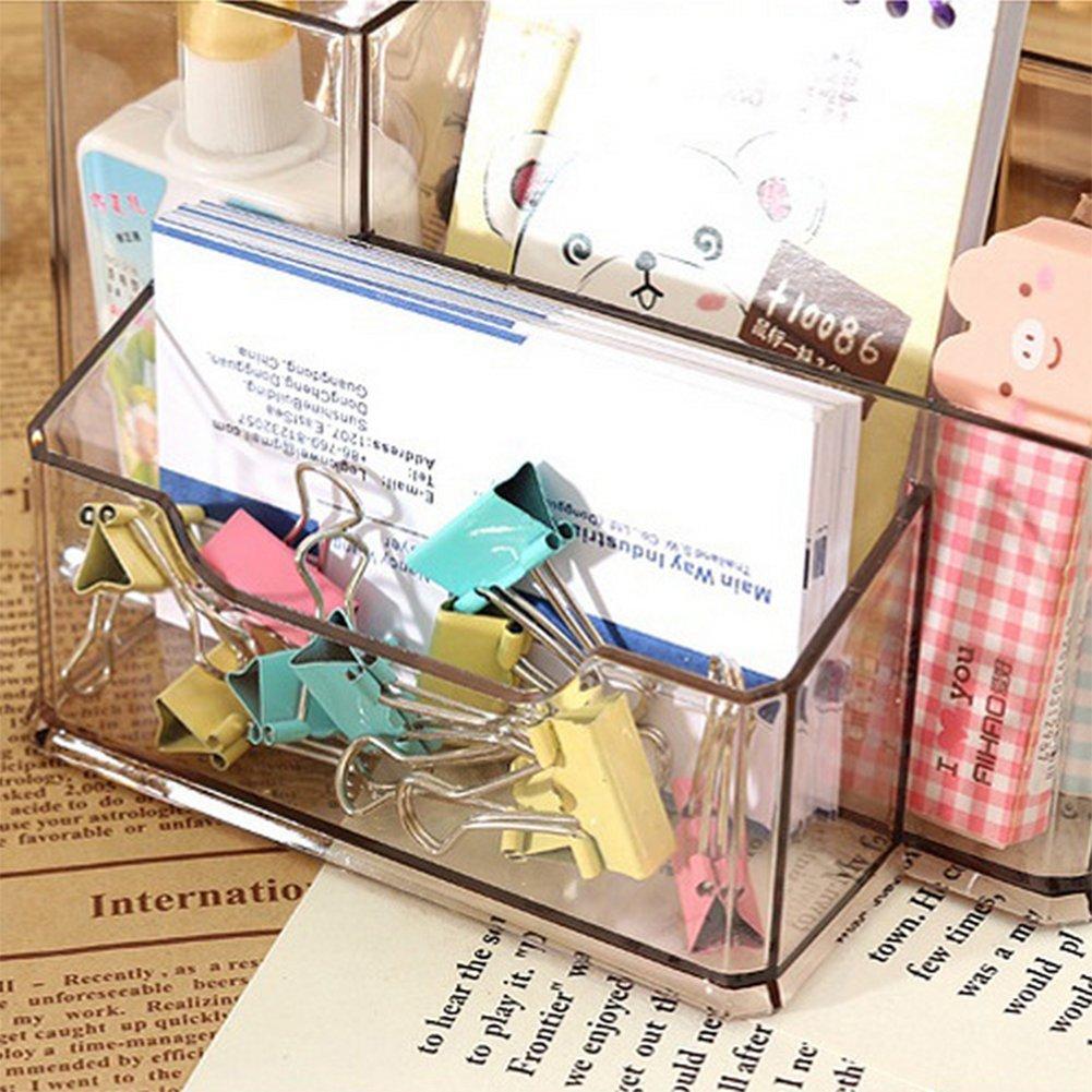 EVIDENZIATORI portapenne 15.4x10.5x8.5cm trasparente Nota adesiva in plastica nastro adesivo matite Blocchetti per Appunti cosanter tavolo di Organizer da scrivania Organizer per penne