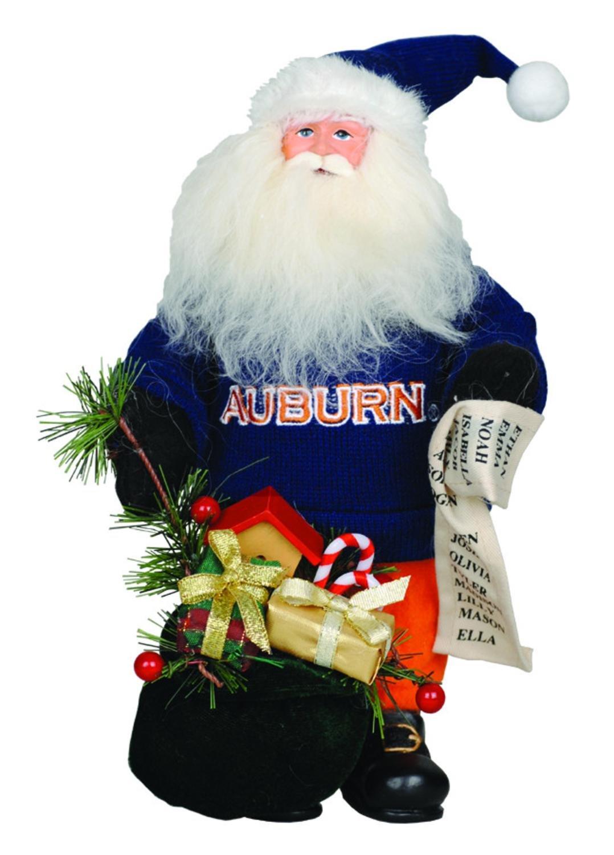 10'' NCAA Auburn Tigers Gift Bearing Santa Claus Christmas Table Top Figure