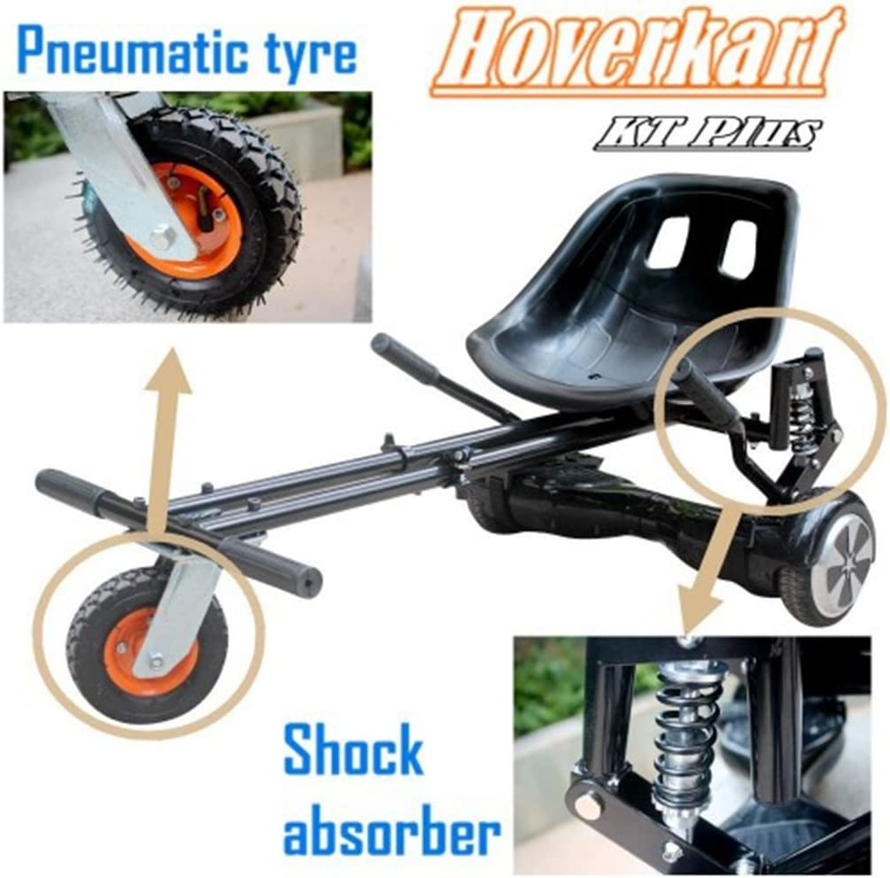 New with Shock Absorber /& Pneumatic Tyre for Off-Road Hoverboard Accessories Hovercart Go-Karting Worryfree Gadgets X3-KART-BLK