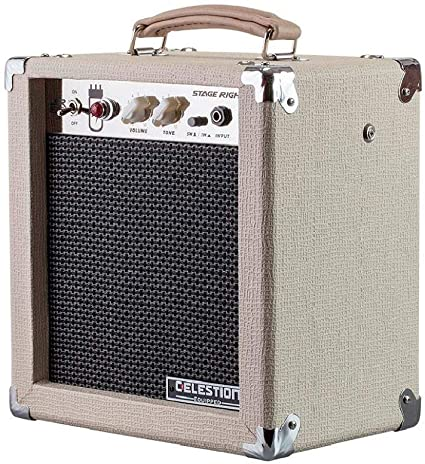 Amazon Com Monoprice 611705 5 Watt 1x8 Guitar Combo Tube Amplifier Tan Beige With Celestion Super 8 Inch Speaker 12ax7 Preamp Versatile And Durable For All Electric Guitars Musical Instruments
