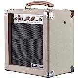 Monoprice 611705 5-Watt 1x8 Guitar Combo Tube Amplifier - Tan/Beige with Celestion Super 8 Inch Speaker, 12AX7 Preamp…