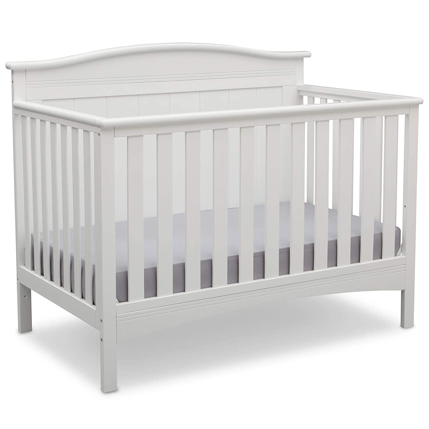Baby Crib Mattress Critiques Amazon.com : Delta Children Bennett 4-in-1 Convertible Baby Crib, Bianca  White : Baby