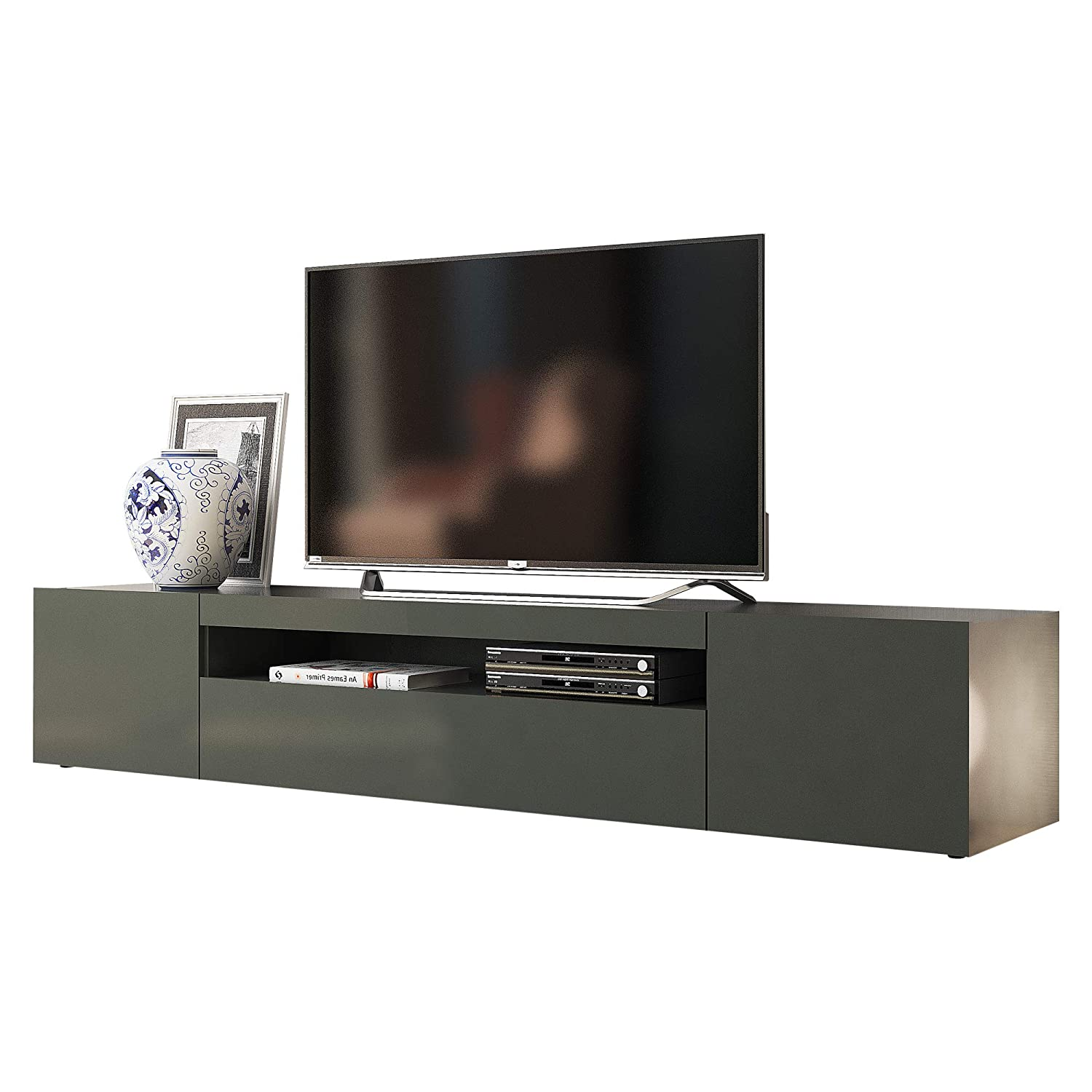 Furniture.Agency Modern TV Stand Sound Bar Storage with Led, Made in Italy
