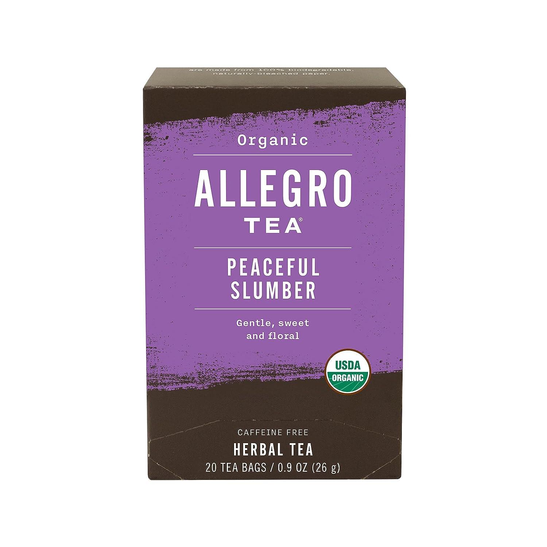 Allegro Tea, Organic Peaceful Slumber Tea Bags, 20 ct sleeping pills or otc sleep aids Sleeping pills or OTC sleep aids – risks and side effects 71OPVYgX9lL