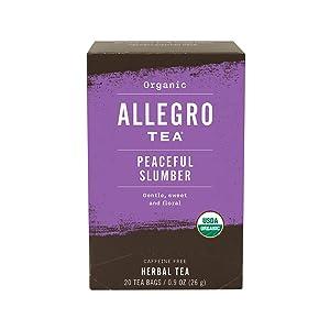 Allegro Tea, Organic Peaceful Slumber Tea Bags, 20 ct sleeping pills or otc sleep aids - 71OPVYgX9lL - Sleeping pills or OTC sleep aids – risks and side effects