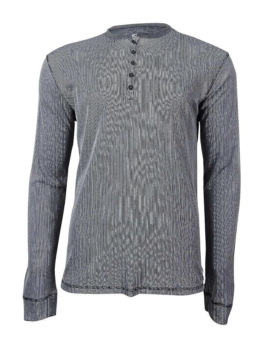 Kenneth Cole REACTION Mens Striped Henley Sleep Shirt REM1405