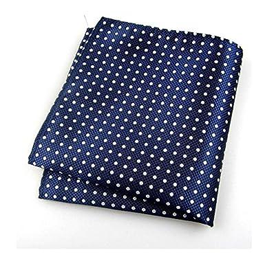 usoldfly Mens corbatas lunares azul marino handkerchieves pañuelo ...