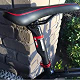 Alfa Pasca Road/MTB Seatposts Carbon 27.2/30.8/31.6 Bicycle Breaking Wind Seat Post Ultra-Light 3K Glossy/Matte Bike Accessories Seatpost(3K Glossy,31.6x350mm) APU-5-0017