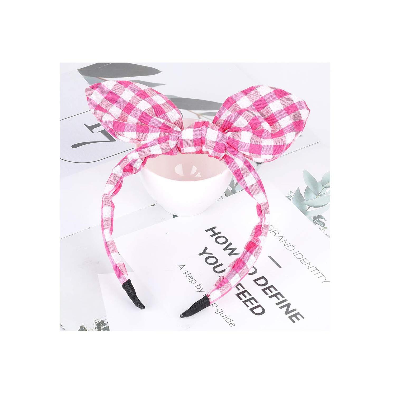 Hairbands Striped Print Girls Bow Widened Hair Hoop Big Ribbon Fashion Lady Headband Women,B