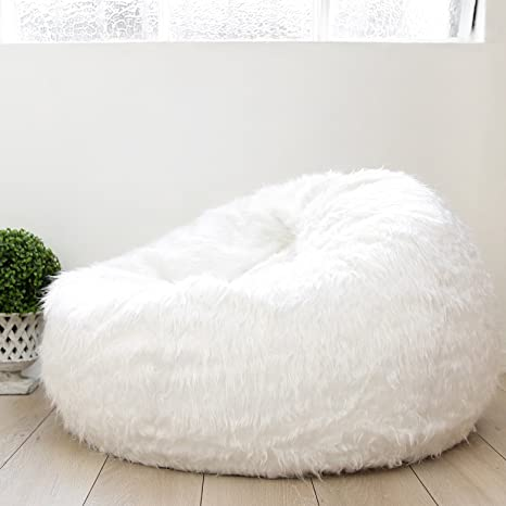 2014af745b87 Faux Fur Bean Bag Cover - White Polo - Suitable for Bedroom
