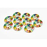 【ALEC】 SDGs ピンバッジ 丸みのあるタイプ 国連本部限定販売 10個セット 正規品