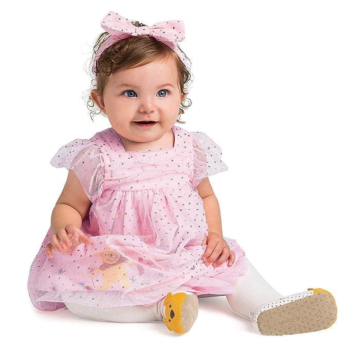 """0-12 meses Bebé Niña Disney /""""Dumbo/"""" Rosa Vestido Estampado De Estrellas"""