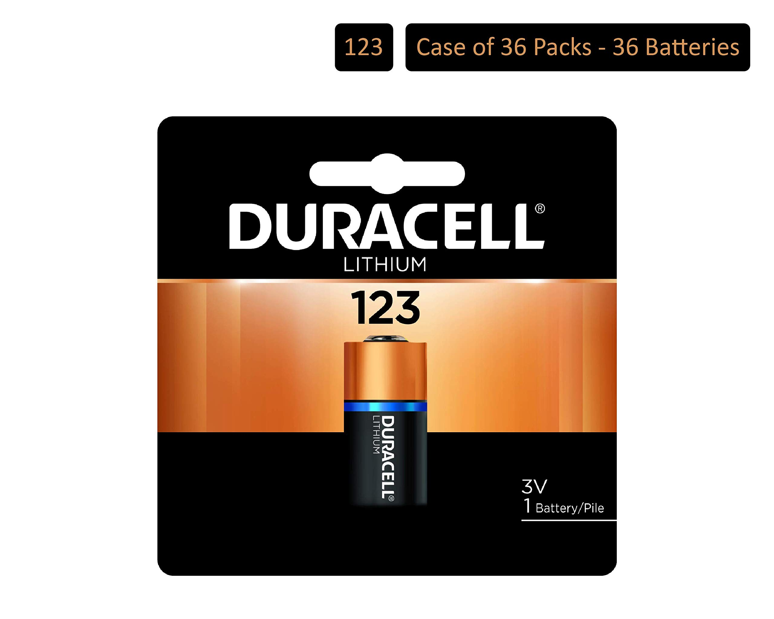 Duracell – 123 3V Ultra Lithium Photo Size Battery – long lasting battery (Pack of 36)