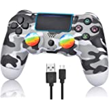 Wireless Controller for PS4 - Remote Joystick for Sony Playstation 4 with Charging Cable and Double Shock (Gray Camouflage,20