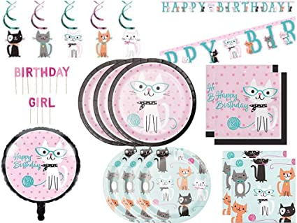 Image Unavailable Not Available For Color Purr Fect Kitty Cat Deluxe Birthday Party Supplies