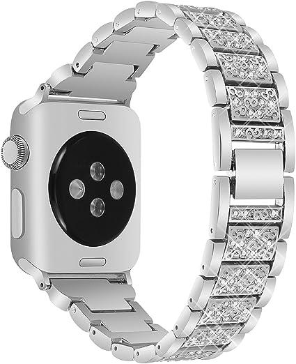 Amazon.com: Correa de acero inoxidable para el Apple Watch ...